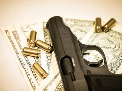 money-pistol-cartridges-bank-note-crime